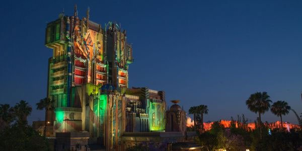 Guardians of the Galaxy: Mission Breakout ride courtesy of Disneyland News