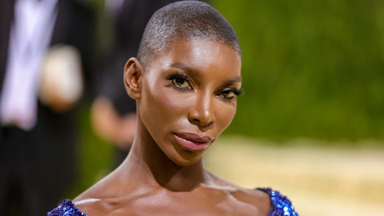Michaela Coel attends The 2021 Met Gala Celebrating In America: A Lexicon Of Fashion at Metropolitan Museum of Art on September 13, 2021 in New York City.