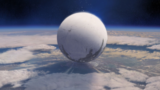 A big orb above earth
