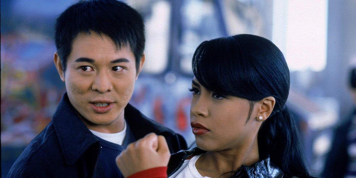 Jet Li and Aaliyah in Romeo Must Die