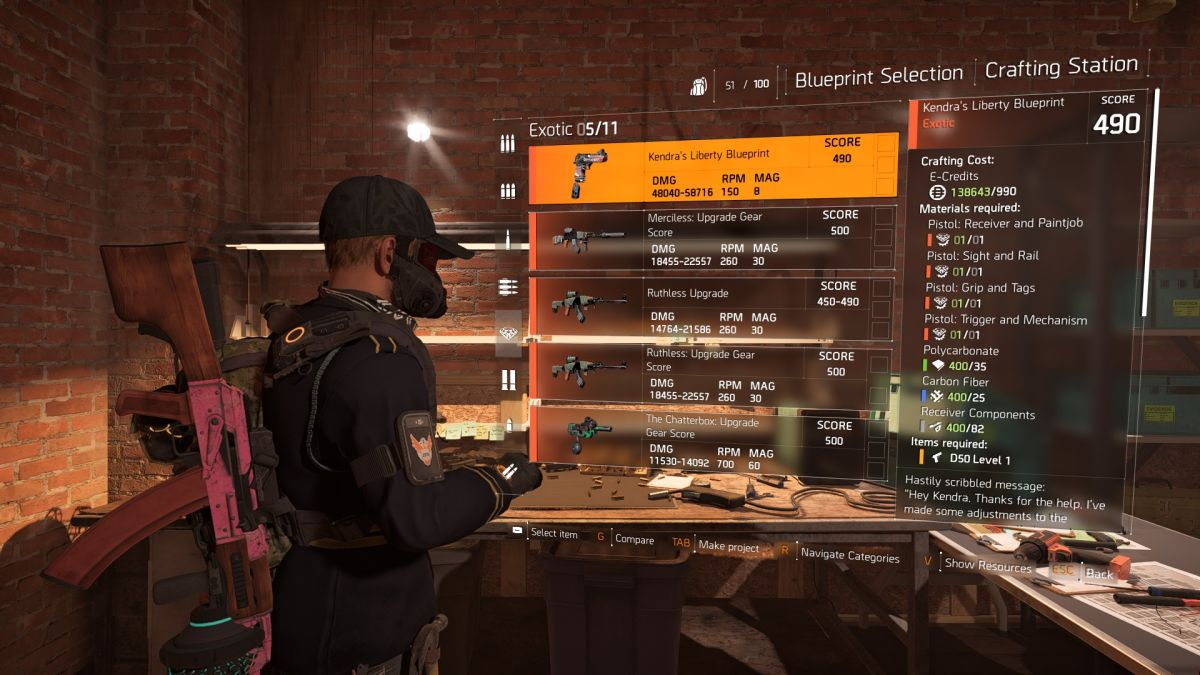 How to get the Liberty exotic pistol in The Division 2 | PC