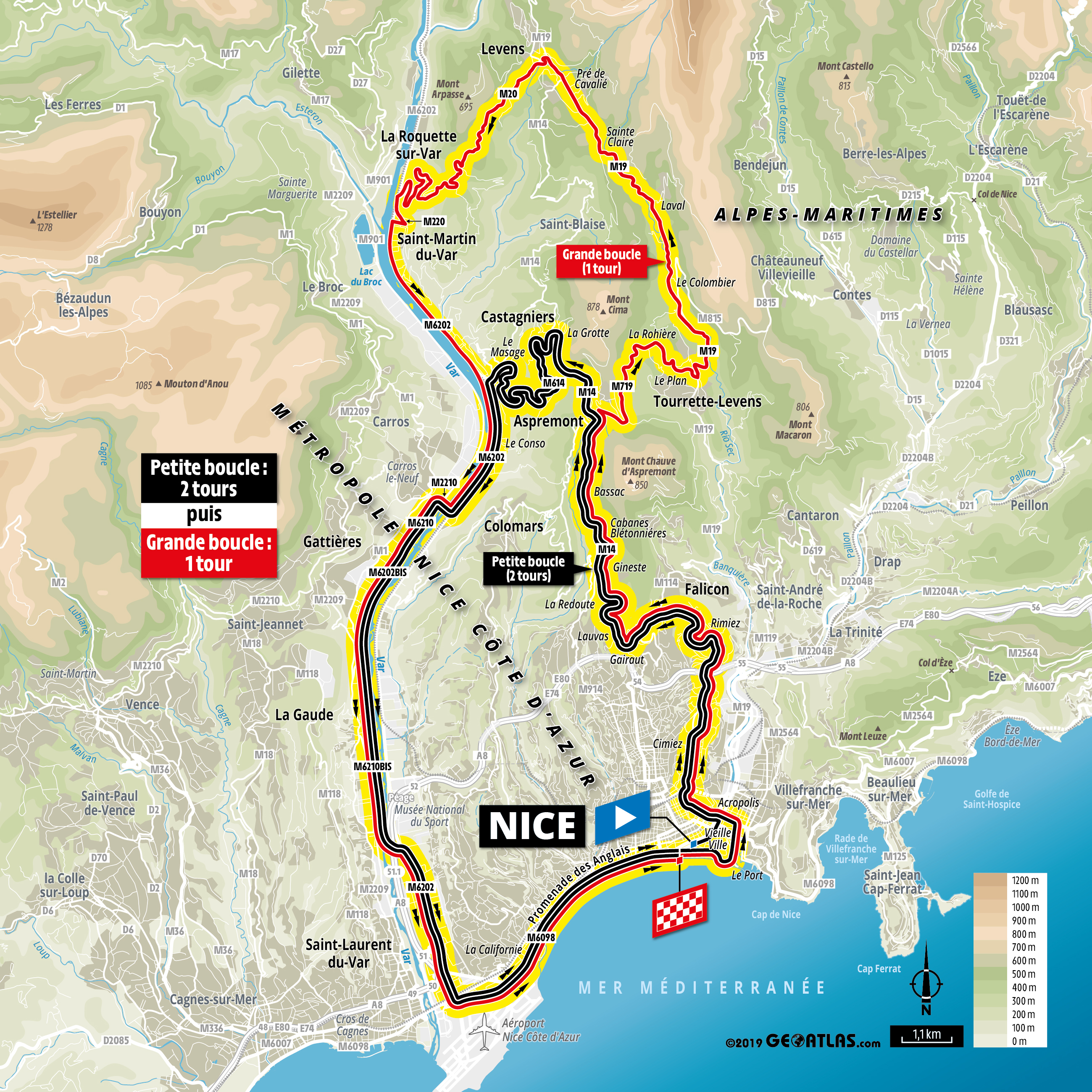 2020 Tour De France Tour de France 2020: Tough Grand Départ in Nice as stage one and