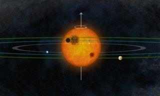 The alien solar system Kepler-30