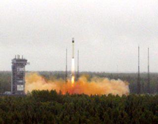 Rocket Booster Returns to Flight in Satellite Launch