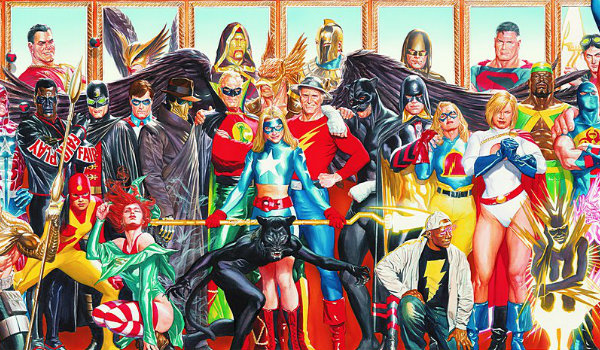 Justice Society team drawing