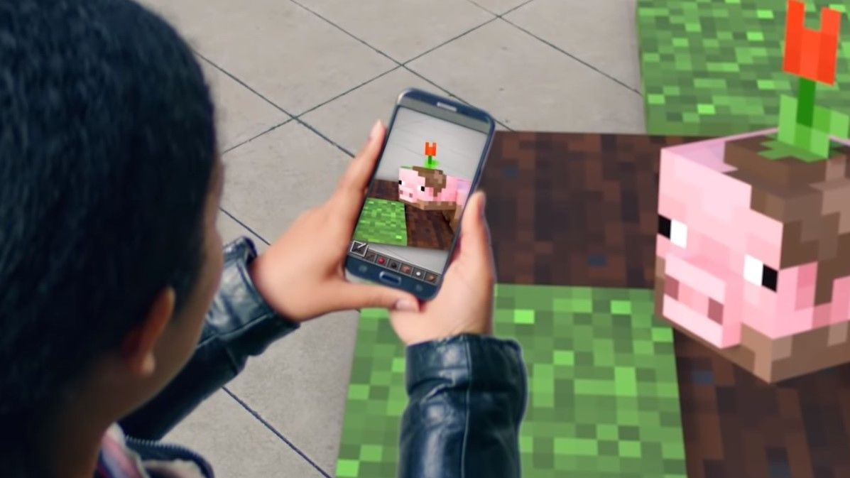 Microsoft just teased an AR Minecraft game for phones