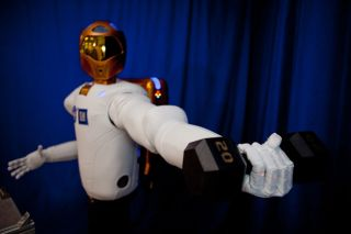 Robonauts 2 surpasses previous humanoid robots in strength, yet work safely next to humans.