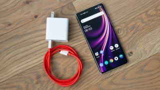 OnePlus 8 with charger