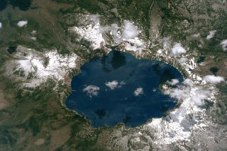 Crater Lake, the deepest lake in the United States, was formed after eruption and collapse of Mount Mazama 7,700 years ago.