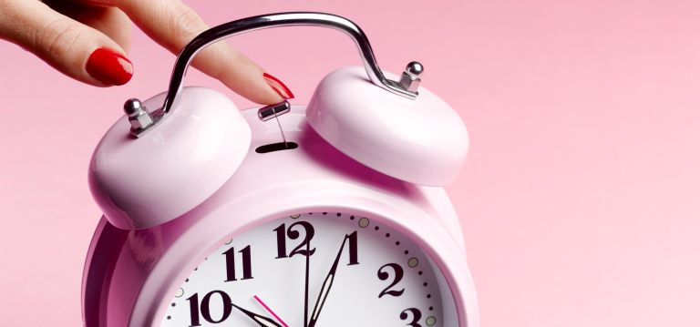 Stopping pink alarm clock deadline