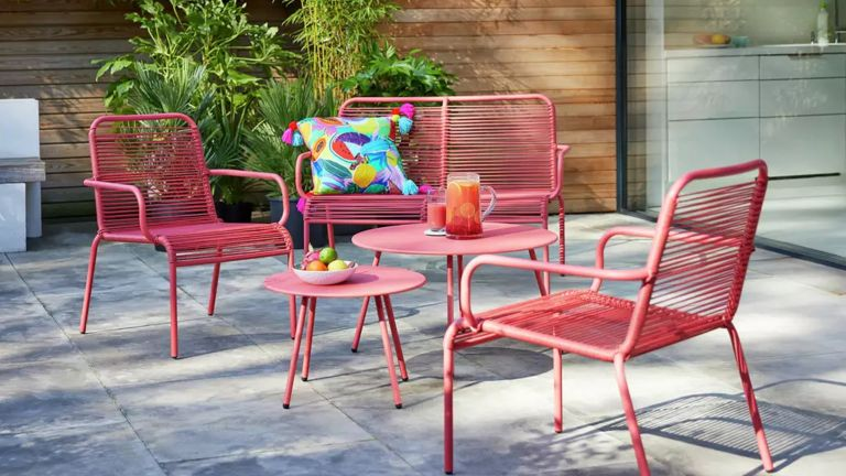 colourful garden furniture set from Argos