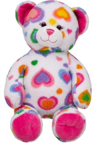Build-A-Bear Colorful Hearts Teddy Bears