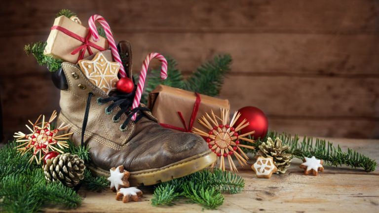 Best gifts for hikers - boot filled with gifts