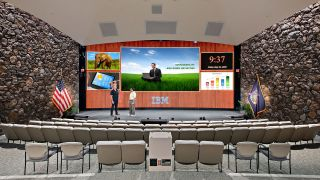 IBM recently upgraded the main auditorium display in the Thomas J. Watson Research Center to a 34-foot-wide 1.2mm Radiance LED wall from Digital Projection.
