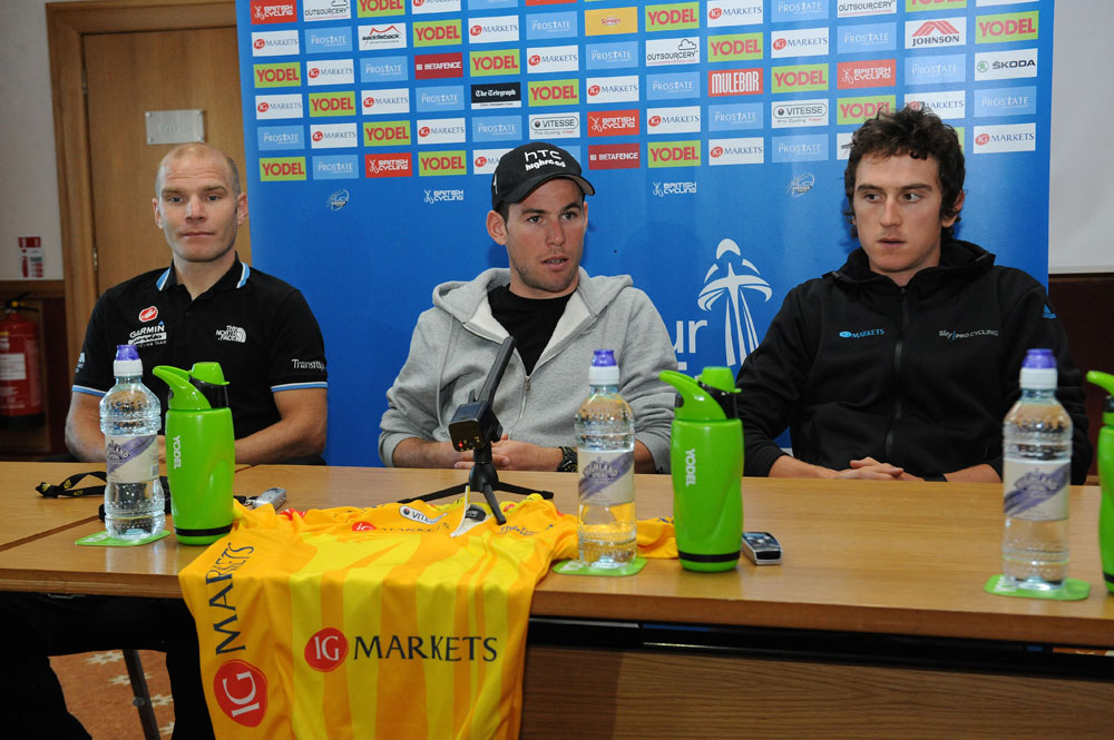 Tour of Britain 2011, press conference/warm-up