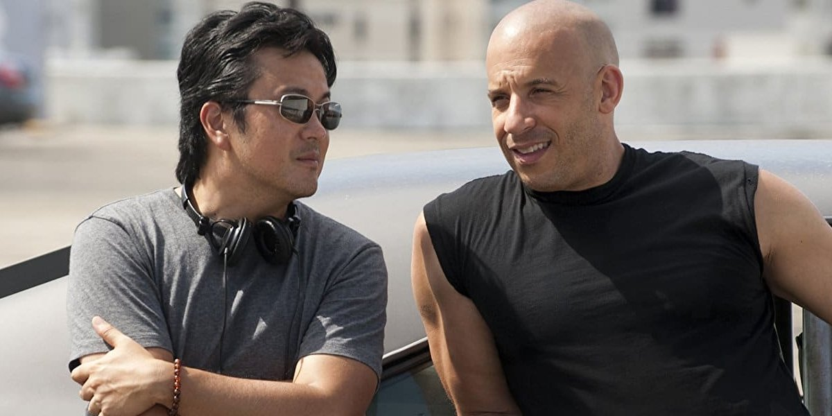 Justin Lin with Vin Diesel making Fast Five