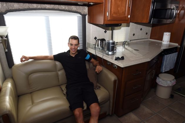 The mobile home of Richie Porte at the 2015 Giro d'Italia