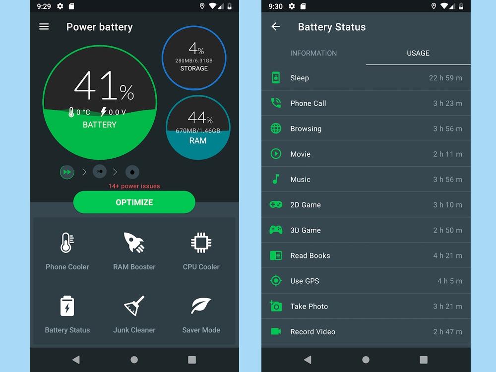 best battery aps: power battery