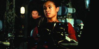 The Matrix Jada Pinkett Smith in the jumpseat
