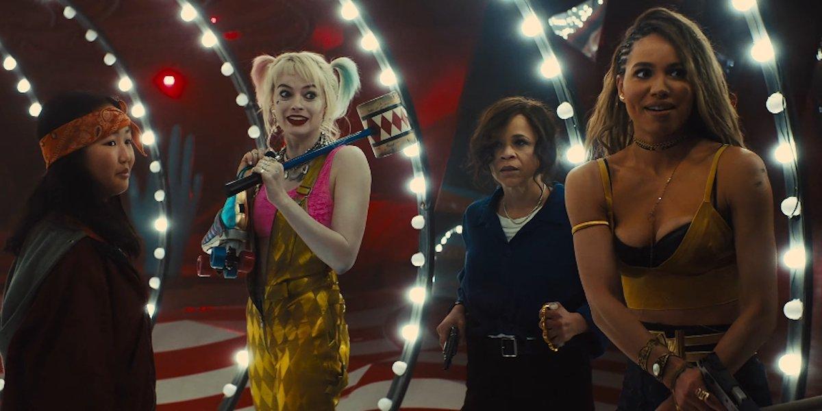 Cassandra Cain, Harley Quinn, Renee Montoya and Huntress in Birds of Prey