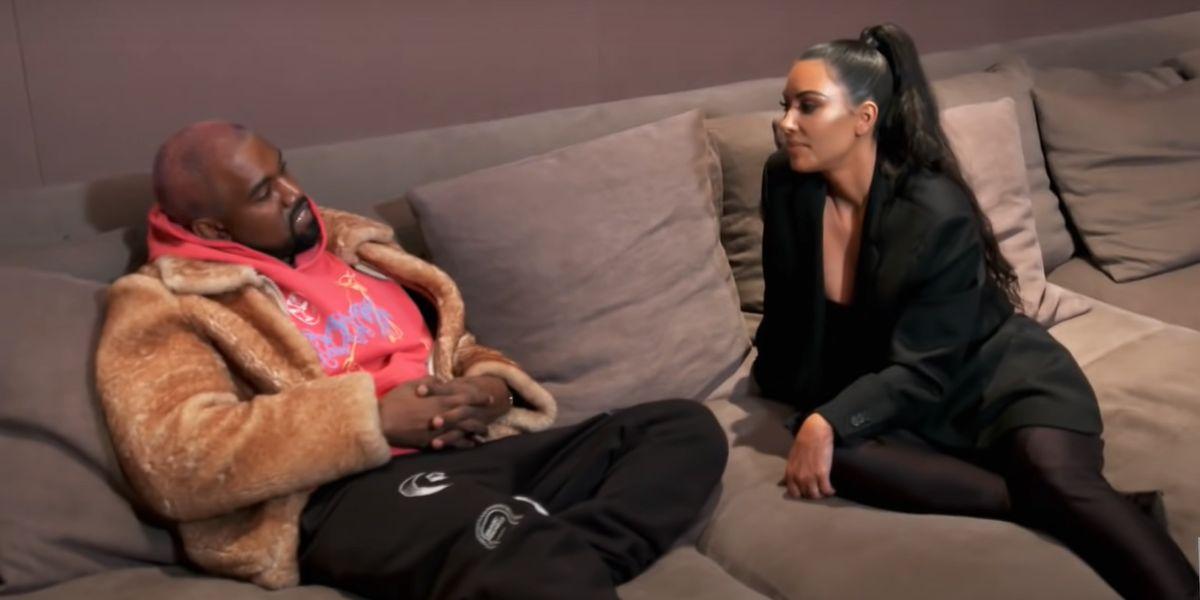 screenshot from Keeping Up with the Kardashians Kim Kardashian Kanye West