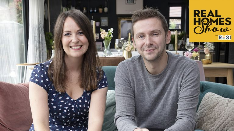 Real Homes Show presenters Laura Crombie and Jason Orme