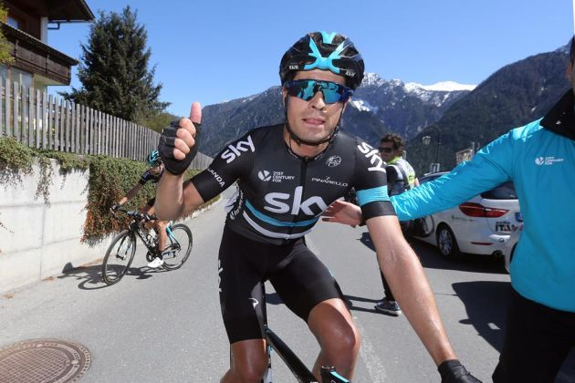 Mikel Landa after winning Stage 2 of the 2016 Giro del Trentino