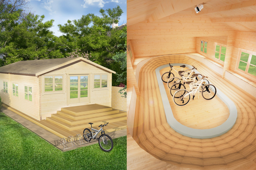 want a velodrome in your garden now you can with the ultimate cyclist 39 s shed cycling weekly. Black Bedroom Furniture Sets. Home Design Ideas