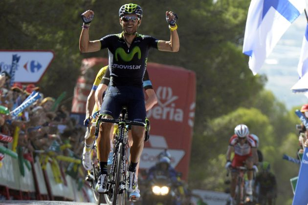 Alejandro Valverde wins stage six of the 2014 Tour of Spain