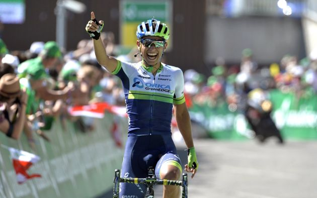Chaves wins on stage eight of the 2014 Tour de Suisse