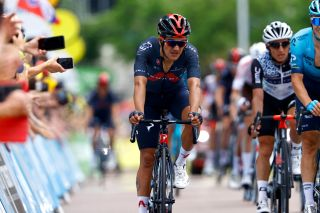 Richard Carapaz (Ineos Grenadiers) finishes stage 7 of the Tour de France