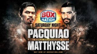 Pacquiao vs Matthysse live stream boxing