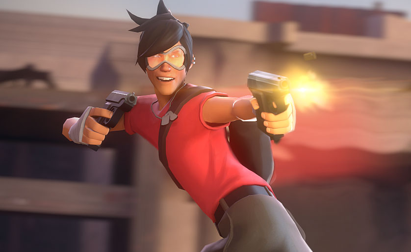 someone recreated an overwatch map in tf2 and it works surprisingly