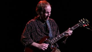 Robby Krieger performs at the Universal Amphitheater in Universal City, CA