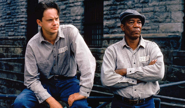 The Shawshank Redemption Andy and Red hanging out in the yard