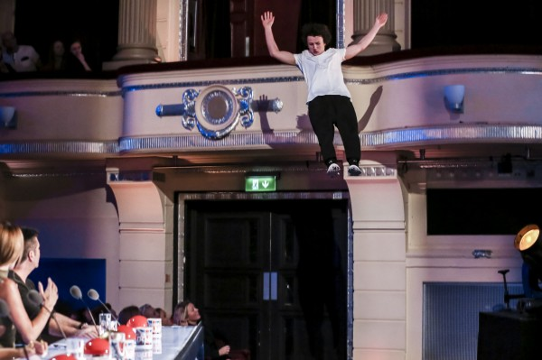 Matt McCreary jumped off the balcony (SYCO/THAMES TV)