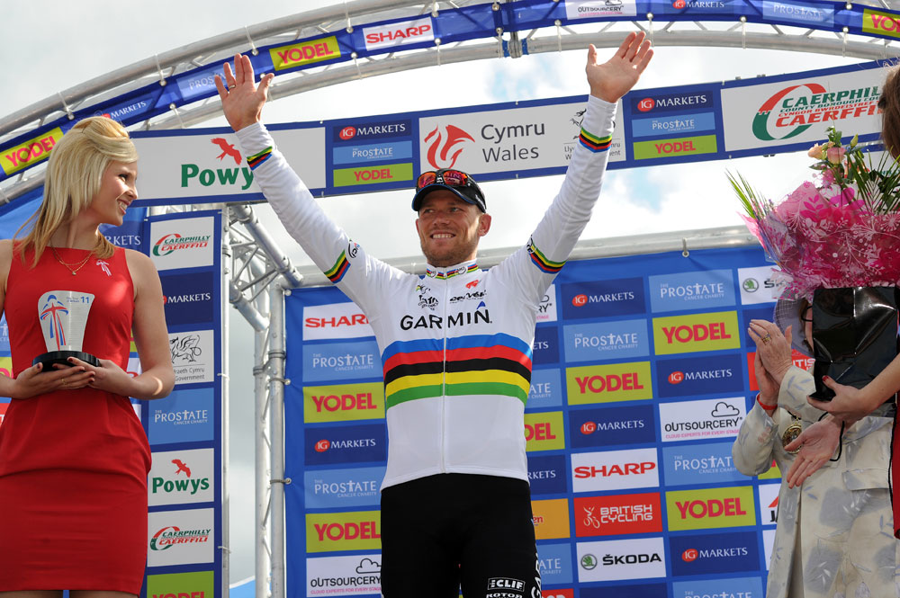 Thor Hushovd wins stage, Tour of Britain 2011, stage four
