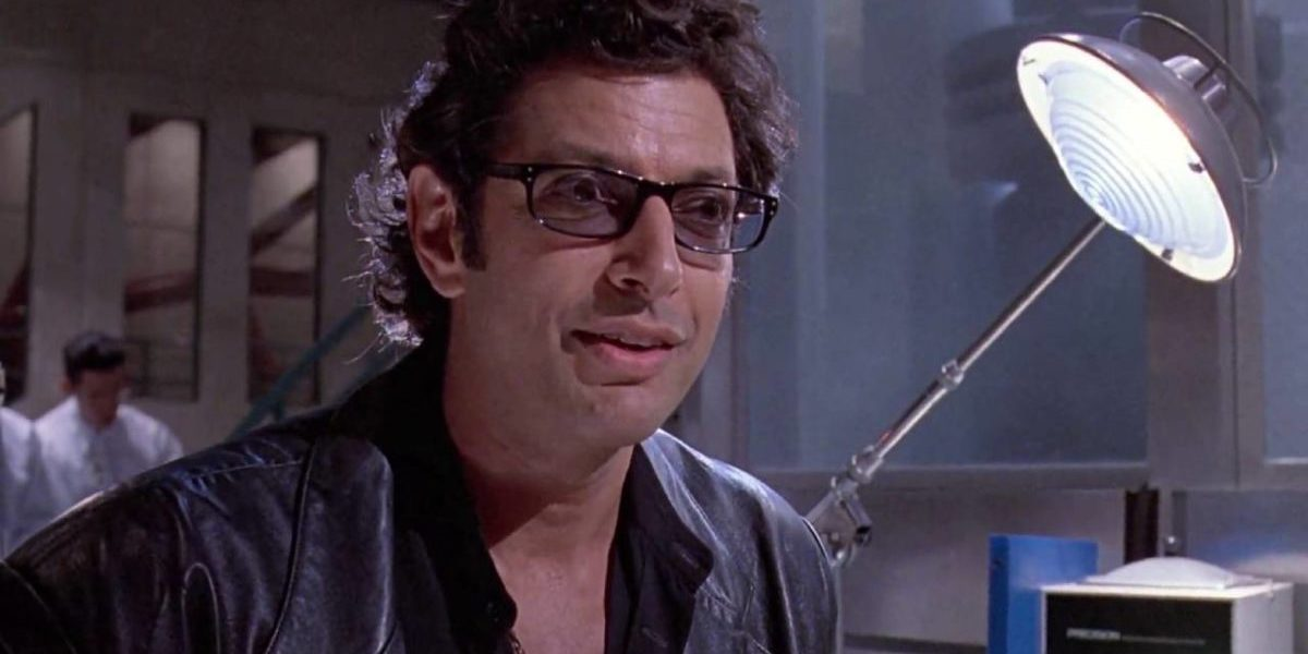 Jeff Goldblum as Dr. Ian Malcolm in original 1993 Jurassic Park