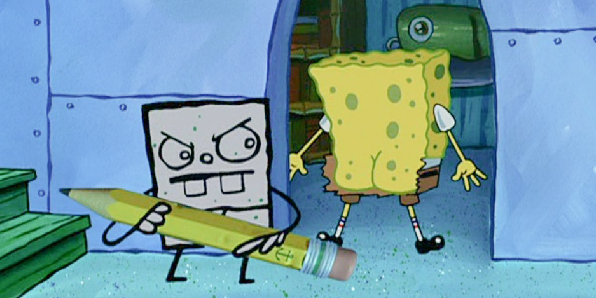 Frankendoodle and Spongebob in Spongebob Squarepants.