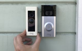Two Ring VIdeo Doorbell models side-by-side.