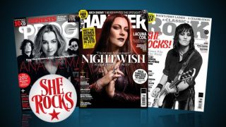 a collage of she rocks magazine titles