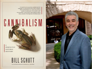 Bill Schutt, and the cover of his new book.