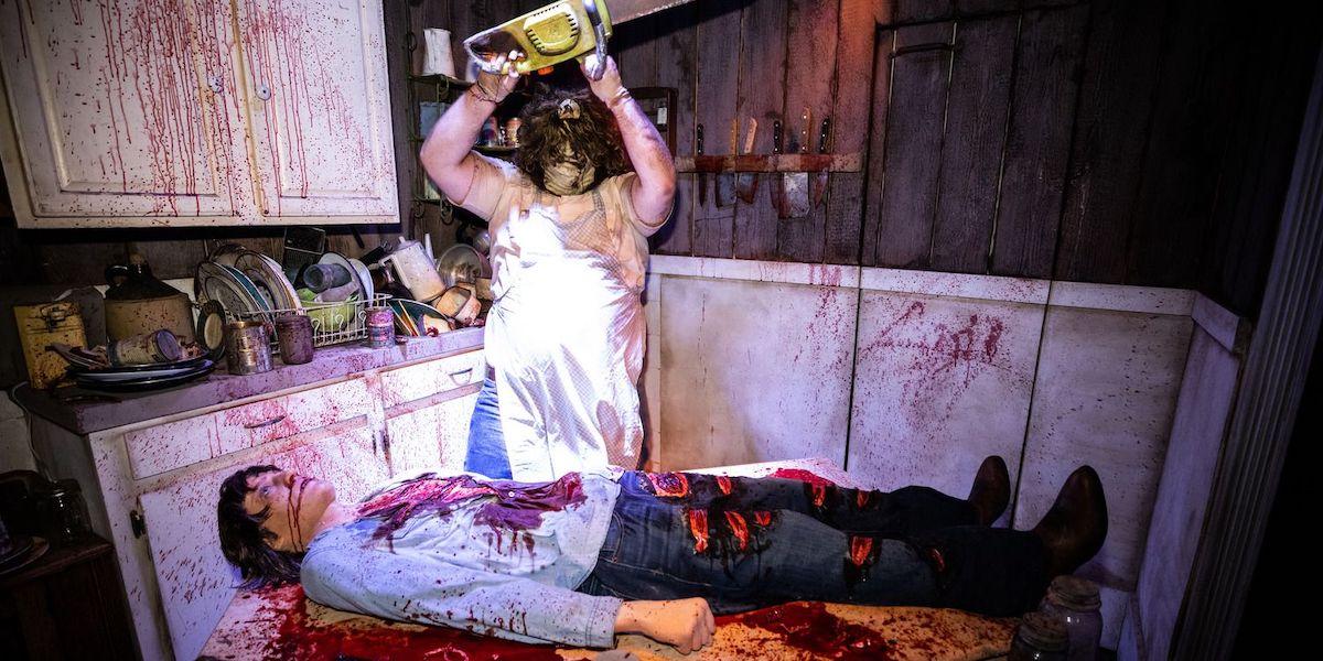 Texas Chainsaw Massacre maze Universal Hollywood's Halloween Horror Nights 2021