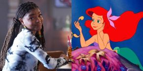 The Little Mermaid's Halle Bailey Shares Awesome Fan Art Tying Her Version Of Ariel With Disney's Animated Version