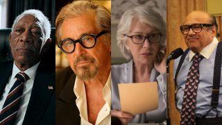 Morgan Freeman, Al Pacino, Helen Mirren, and Danny DeVito