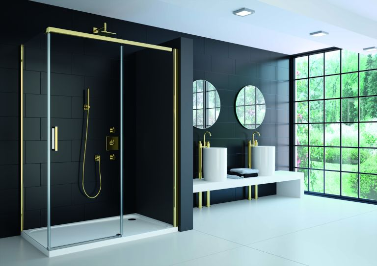 Precision hinged door from Pure Bathroom Collection