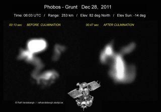 Phobos-Grunt Spacecraft Photographed on Dec. 28, 2011