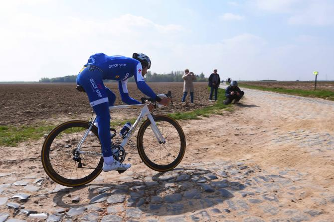 Tom Boonen on the pavé