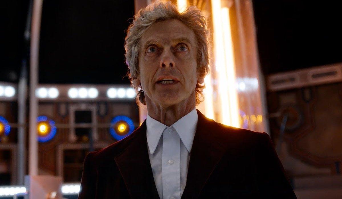 Doctor Who The Twelfth Doctor looking cross in the TARDIS