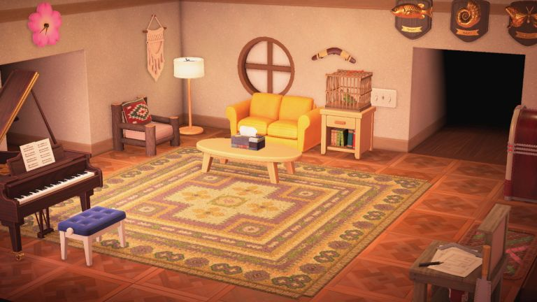 Animal Crossing living room decor